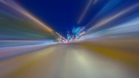 Fahren in das Nachtzeitversehen stock video footage