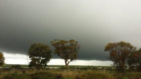 Fahren des Nullabor auf einer Landstraße im australischen Hinterland Lizenzfreie Stockfotografie