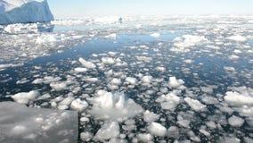 Fahren durch Eis im arktischen Wasser stock video
