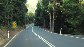 Fahren entlang den Macquarie-Durchlauf in New South Wales stock footage