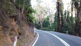 Fahren entlang den Macquarie-Durchlauf in New South Wales stock video