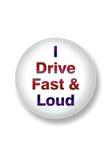 Fahren schnell und laut. Lizenzfreie Stockfotografie