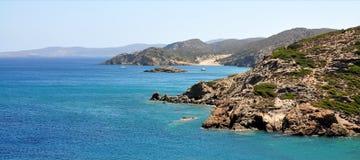 Fahren Sie auf die Insel von Kreta, Griechenland, Europa die Küste entlang Stockbild