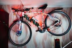 Fahren Sie auf eine Wanddekoration der Weihnachtslampe rad Stockfotos