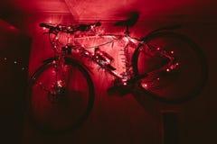 Fahren Sie auf eine Wanddekoration der Weihnachtslampe rad Lizenzfreies Stockfoto