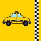 Fahren Sie flache Ikone, Vektoren, Auto, Symbol mit einem Taxi Stockfoto