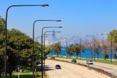 Fahren Sie Lakeshore Chicago Lizenzfreie Stockbilder