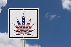Fahren unter Einfluss des Marihuanas Stockbild