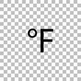 Fahrenheit ikony mieszkanie ilustracja wektor