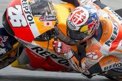 Fahrer Dani Pedrosa Honda Team Lizenzfreie Stockbilder