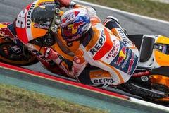 Fahrer Dani Pedrosa REPSOL HONDA TEAM Lizenzfreies Stockfoto