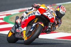 Fahrer Dani Pedrosa REPSOL HONDA TEAM Monster-Energie Grandprix von Katalonien Lizenzfreie Stockbilder