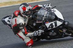 Fahrer Manuel Santiago BMW S1000RR Lizenzfreie Stockfotos