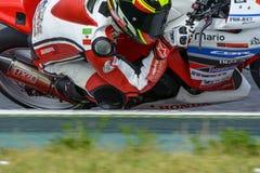 Fahrer Mario Lujan Honda CBR250R Lizenzfreie Stockfotografie