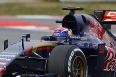 Fahrer Max Verstappen Team Toro Rosso Lizenzfreie Stockfotografie