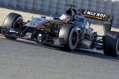 Fahrer Nico Hulkenberg Team Force India Lizenzfreie Stockfotografie