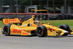Fahrer Ryan Hunter-Reay Stockfoto