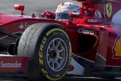 Fahrer Sebastian Vettel Team Ferrari Lizenzfreies Stockbild