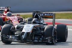 Fahrer Sergio Perez Team Sahara Force India F1 Lizenzfreie Stockbilder