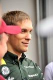 Fahrer Vitaly Petrov der Formel 1 stockfoto