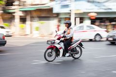 Fahrer von Motorradtaxis in Bangkok Lizenzfreies Stockbild