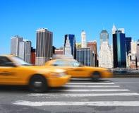 Fahrerhäuser in Manhattan Stockbilder