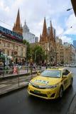 13 FAHRERHÄUSER, Taxi Melbourne, Australien Stockfoto