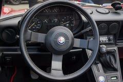 Fahrerhaus des Alphas Romeo Spider des offenen Tourenwagens Lizenzfreies Stockfoto