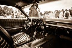 Fahrerhaus des mittelgroßen Auto Plymouth-Satelliten (dritte Generation) Stockbild