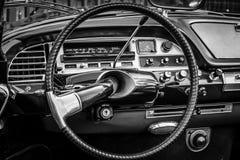 Fahrerhaus des mittelgroßen Luxusautos Citroen DS21 Stockfoto