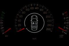 Fahrersitzgurt-Kontrollsteuerung Stockfotografie