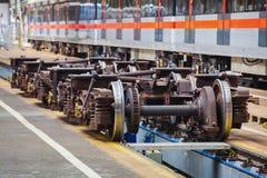 Fahrgestelle für Wartung von U-Bahnlastwagen Lizenzfreies Stockbild
