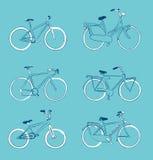 Fahrräder übergeben gezogenes Lizenzfreies Stockfoto