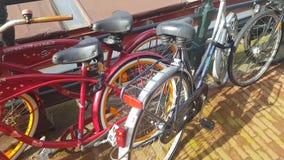 Fahrräder in Amsterdam stock footage