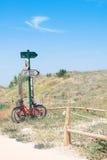Fahrräder auf den Sanddünen Lizenzfreies Stockbild