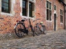 Fahrräder in Belgien Stockfotos