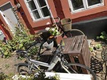 Fahrräder in Dänemark lizenzfreies stockbild