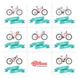 Fahrräder der Welt Stockbild