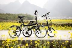 Fahrräder draußen stockfoto