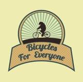 Fahrräder für jeder Stockfoto