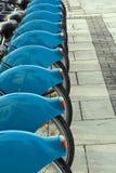 Fahrräder für Miete Stockfotografie
