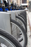 Fahrräder für Miete, NYC, USA Stockfotografie