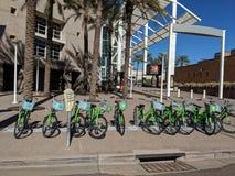 Fahrräder für Miete, Phoenix-Stadtzentrum, AZ lizenzfreies stockfoto