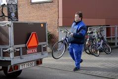 FAHRRÄDER LNDLORD EMOVING Stockfotos