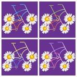 Fahrräder mit Blumenmuster Stockfoto