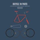 Fahrräder mit detailful Teilen Stockbild