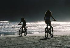 Fahrräder am Nachmittag Stockbild