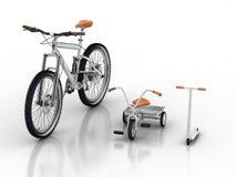 Fahrräder und Roller Stockbilder
