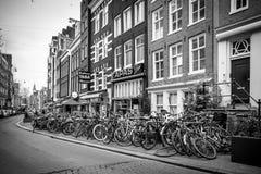 Fahrräder von Amsterdam Lizenzfreies Stockbild