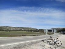 Fahrrad in Andalusien, Spanien Lizenzfreies Stockfoto